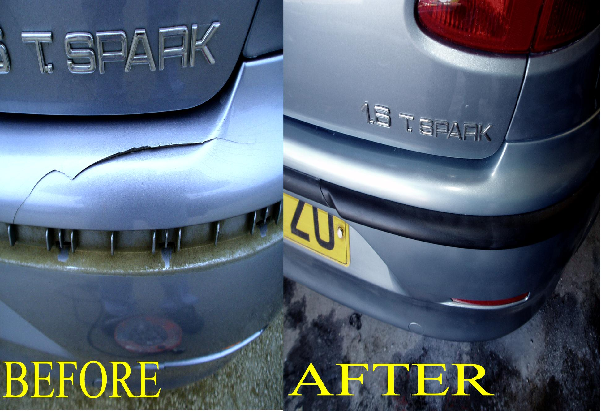 QUALITY BUMPER REPAIRS IN THE WEST MIDLANDS,BIRMINGHAM,WORCESTER,SOLIHULL AREA CRACKED BUMPERS,SPLIT BUMPERS,BROKEN BUMPERS ALL REPAIRED BY QUALITY SMART ON SITE AT YOUR HOME OR WORKPLACE ALL COLOURS REPAIRED TO A HIGH STANDARD .