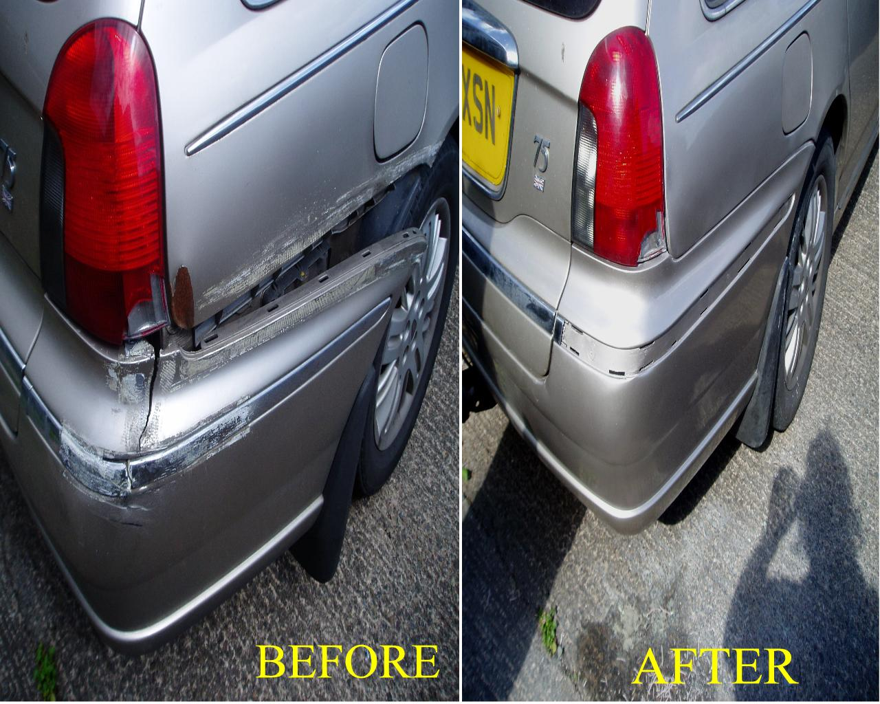 split,broken,cracked bumper repairs in the midlands