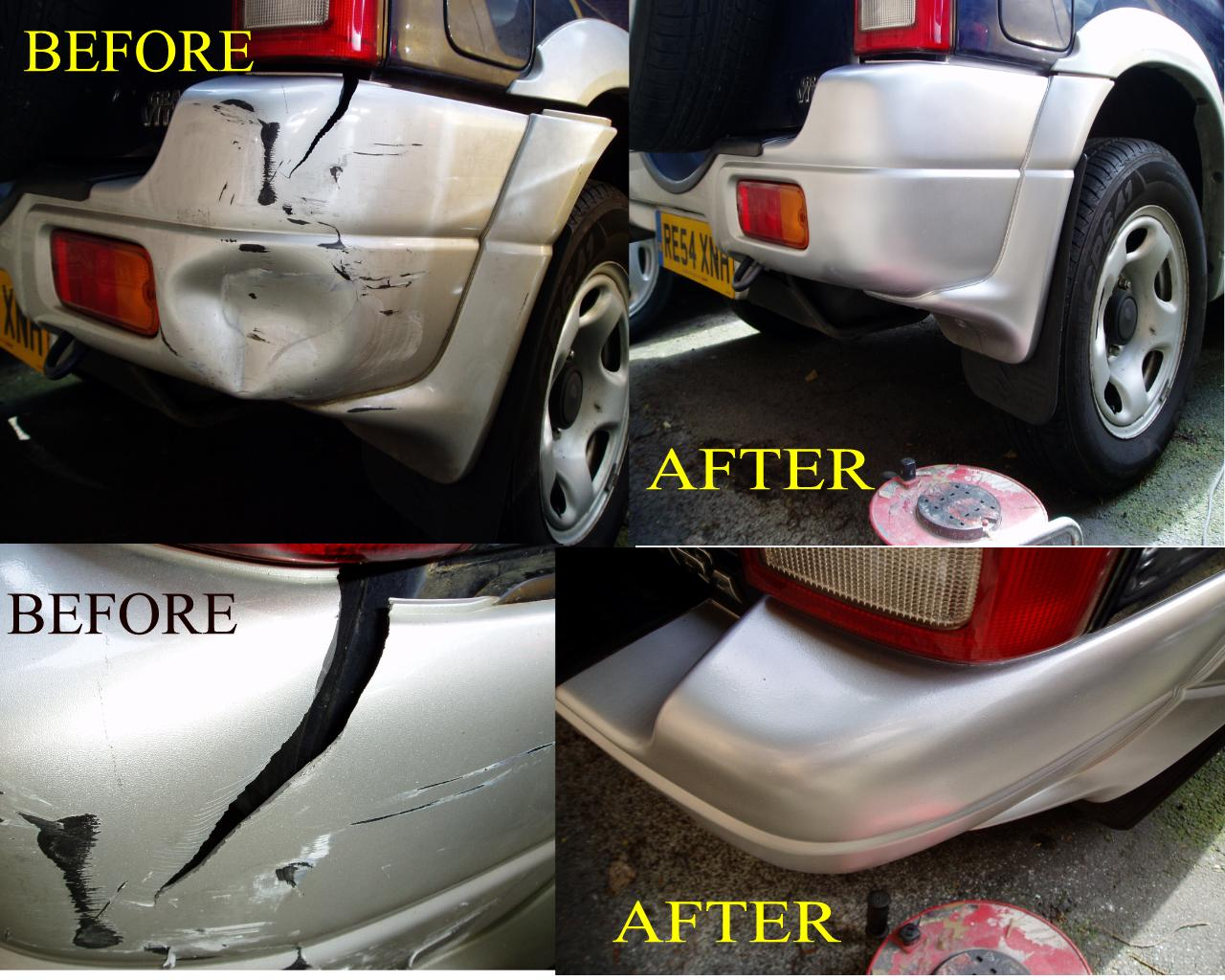 CRACKED SPLIT BROKEN BUMPER REPAIRS